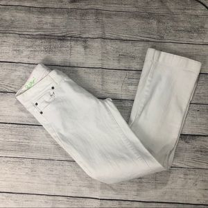 Sz 0 Lilly Pulitzer Main Line Fit White Jeans